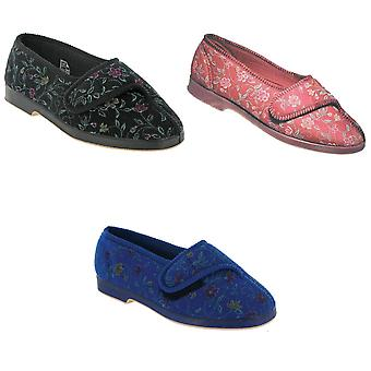 GBS Wilma Ladies Wide Fit Slipper / Womens Slippers