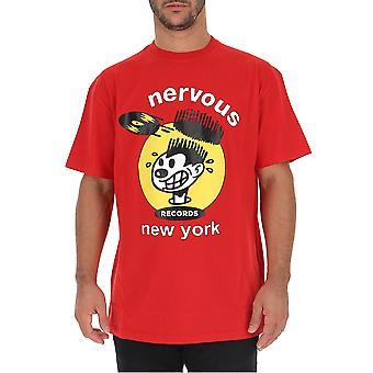Buscemi Bvw19220003 Men's Red Cotton T-shirt