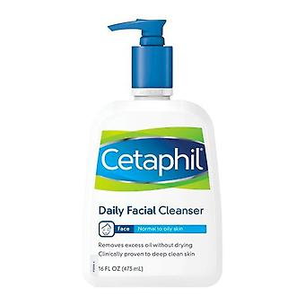 Cetaphil daily facial cleanser, normal to oily skin, 16 oz
