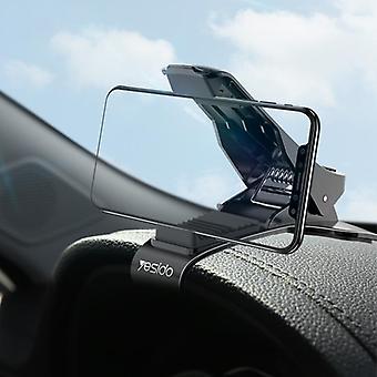Yesido c85調整可能なクリップダッシュボード車の携帯電話ホルダー車マウント 4.0-6.5インチスマートフォン用