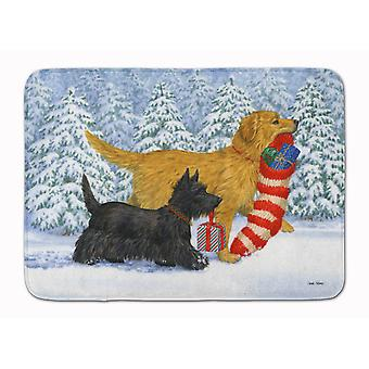 Golden Retriever Keep Up There, Scottie! Machine Washable Memory Foam Mat