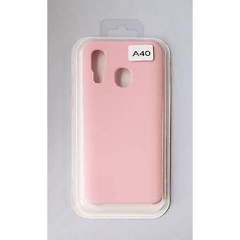 Silicone Cover Case for Samsung A40 Pink