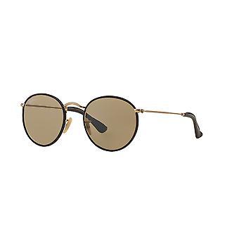 Ray-Ban Runde Handwerk RB3475Q 112/53 Matt Gold/Kristall braun Sonnenbrille