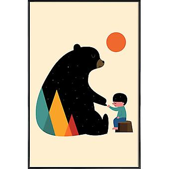 JUNIQE Print - Promise - Bears Poster in Colorful