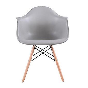 Wood4you - Essstuhl DAW-grey - Pariso - Low - Sitzhöhe: 41 cm - 2 Stück