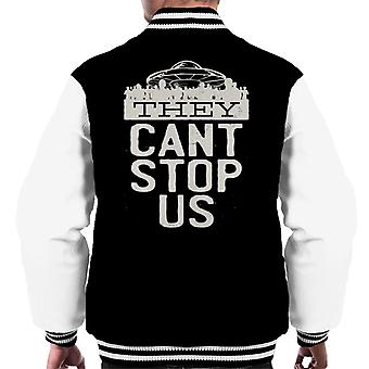They Cant Stop Us Flying Saucer Men's Varsity Jacket