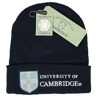 Licentie Cambridge University™ ski Hat Beanie Navy kleur