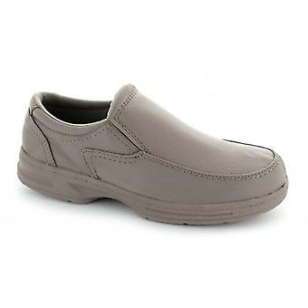 Dr Keller Howard Mens Leather Wide Fit Loafers Taupe