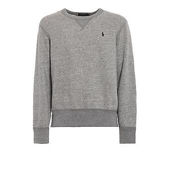 Ralph Lauren Ezcr012024 Men's Grey Cotton Sweatshirt