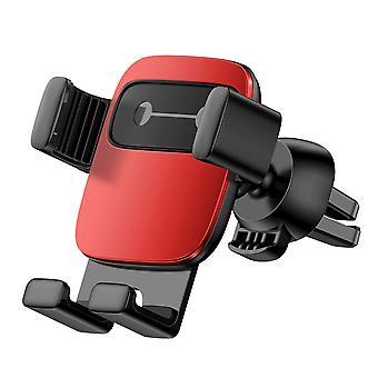 Baseus métal cube gravité liaison automatique serrure porte-téléphone de voiture d'évent avec 5 autocollants d'émotion pour 4.7-6.6 pouces téléphone intelligent