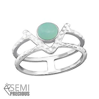 Double Line - 925 Sterling Silver Jewelled Rings - W32353x