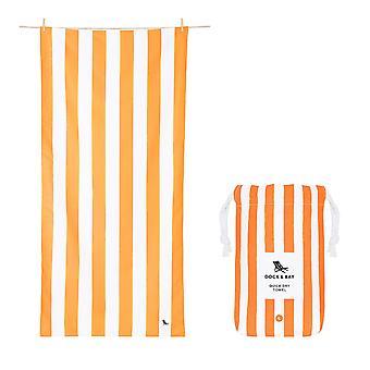Dock & bay quick dry towel - cabana - ipanema orange