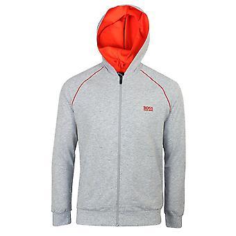 Hugo boss men's light grey marl mix & match h hooded jacket