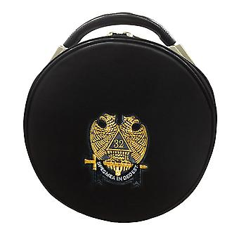Masonic Schotse rite double-eagle 32 graden hoed / pet geval