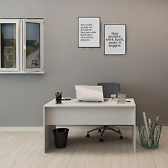 Hestina Desk White Color in Melaminic Chip, L140xP70xA74 cm