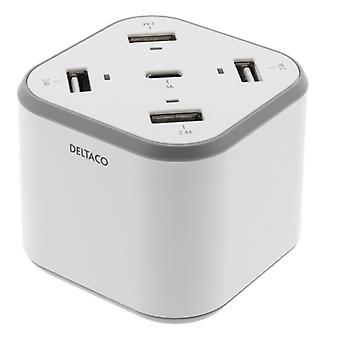 USB wall charger with 4 USB-A ports