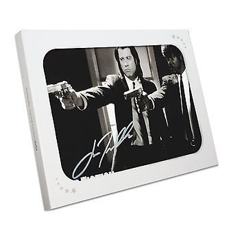 John Travolta Firmato Pulp Fiction Poster: Intervento Divino. In scatola regalo