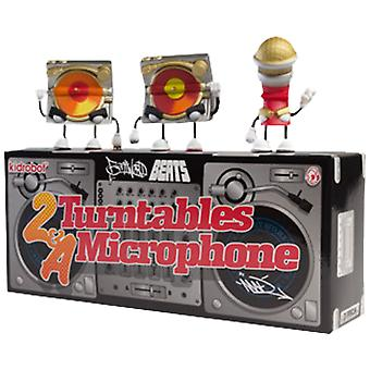 Kidrobot 2 Turntables and a Microphone Mini 3 Pack