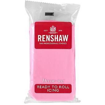Renshaw Pink Ready to Roll Fondant Icing
