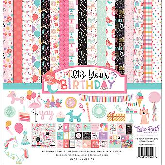 Echo Park It's Your Birthday Girl 12x12 Inch Collection Kit