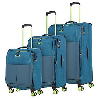 travelite Proof Trolley Set 55/68 4 Rollen, 0 cm, Türkis