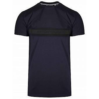Antony Morato-T-shirt med logo til sport Navy