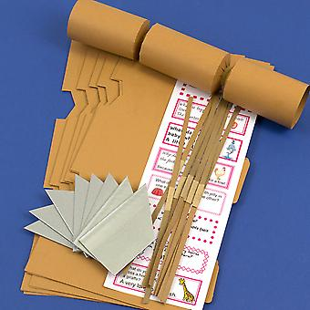 8 Tan Brown Make & Fill Your Own DIY Recyclable Christmas Cracker Craft Kit