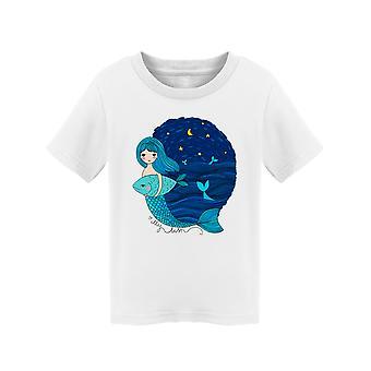 Mermaid In The Night Tee Toddler's -Image by Shutterstock