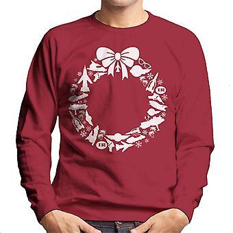 Thunderbirds pictogram kerst krans mannen ' s Sweatshirt
