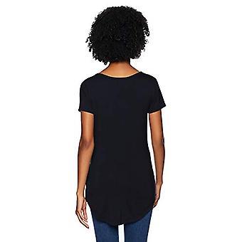 Brand - Daily Ritual Women's Jersey Short-Sleeve Scoop-Neck Longline T-Shirt, navy, Medium