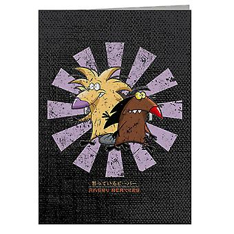 Angry Beavers Retro Japanese Greeting Card