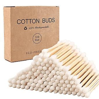 Eco Friendly, Biodegradable Bamboo Wood Cotton Buds