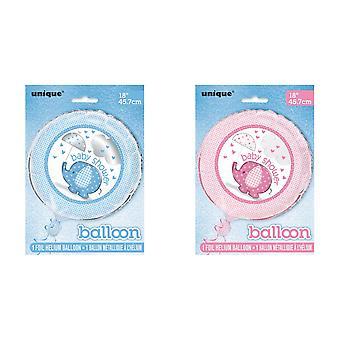 Festa única Baby Shower 18in balão folha de chuveiro
