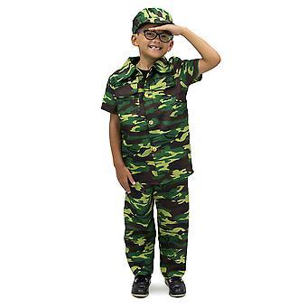 Curajos Commando Copiiăs Costum, 7-9