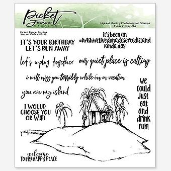Picket Fence Studios You or WiFi Clear Stamps