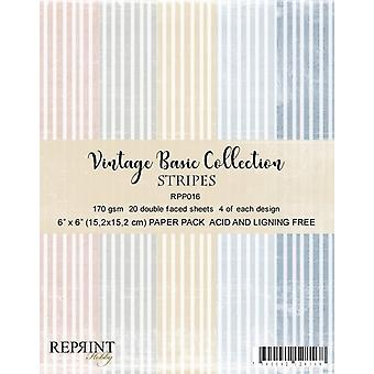 Reprint Stripes Basic 6x6 Inch Collection Pack