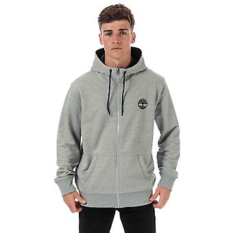 Män & apos; timberland eller flock logo zip hoody i grått