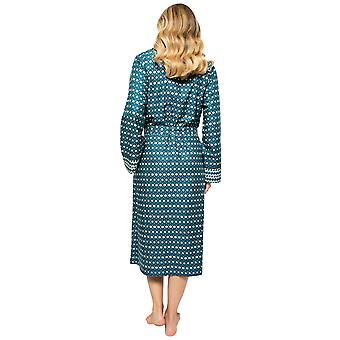 Cyberjammies Elena 4571 Frauen's Petrol blau geometrische Druck lange Robe