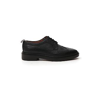 Thom Browne Ffo002g00198001 Dames's Black Leather Lace-up Schoenen