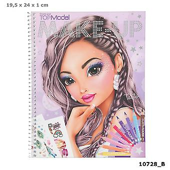Depesche 10728 Colouring Book TOPModel Create Your Make-Up