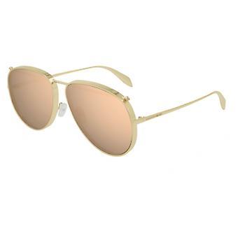 الكسندر ماكوين AM0170S 005 نظارات شمسية مرآة الذهب / الوردي
