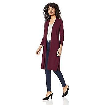 العلامة التجارية - Lark & Ro Women's Cardigan طويل الأكمام خفيفة الوزن, ميناء, X-Sm...