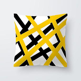 Sommer Geometri Gule Hodeskaller, Ananas, Blad, Blomst Print Dekorative