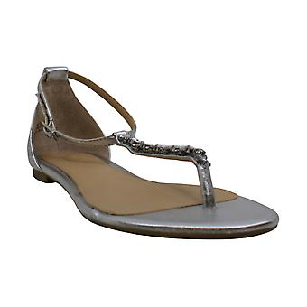 Jewel Badgley Mischka Women's Carrol II Sandal, silver, 8.5 Medium US