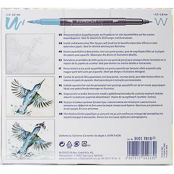 Marsgraphic Duo Double Ended Watercolor Brush Markers 18/Pkg-