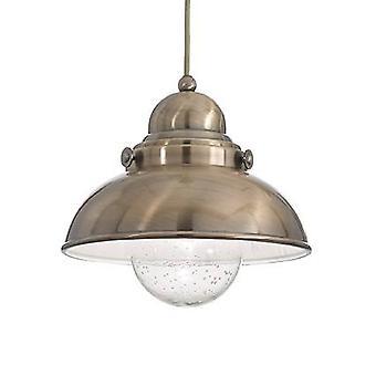 Ideal Lux Sailor - 1 luz pequeño domo techo colgante bronce, E27