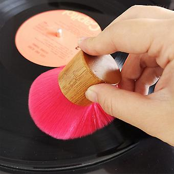 Anti Static Lp Vinyl Record Handheld -mini Soft Bamboo Handle Turntable Cd Album Cleaning Brush A Maintenance Tool Portable