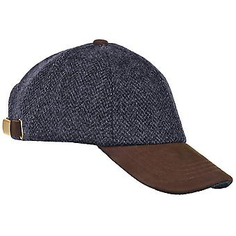 ZH016 (BLACK HB ONE SIZE ) Glencairn Harris Tweed Lth Pk BB Cap