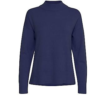 b.young Nonina Navy Knit Jumper
