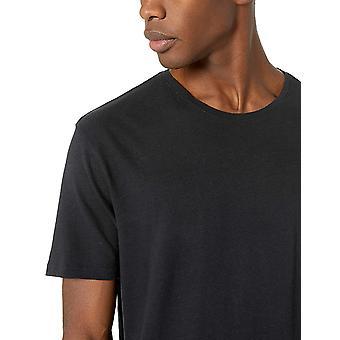 Goodthreads Men's Leinen Baumwolle Crewneck T-Shirt, schwarz, mittel